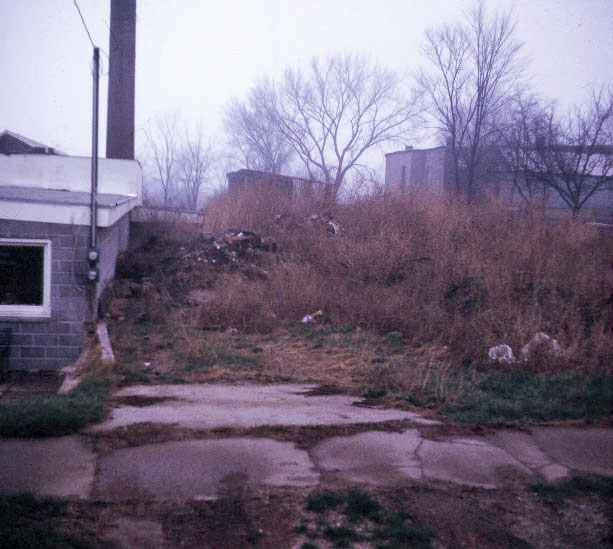 Original north side of Greenhouse - our very own dump! 1972