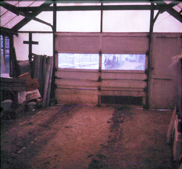 Original Greenhouse garage before any cleaning - 1972.