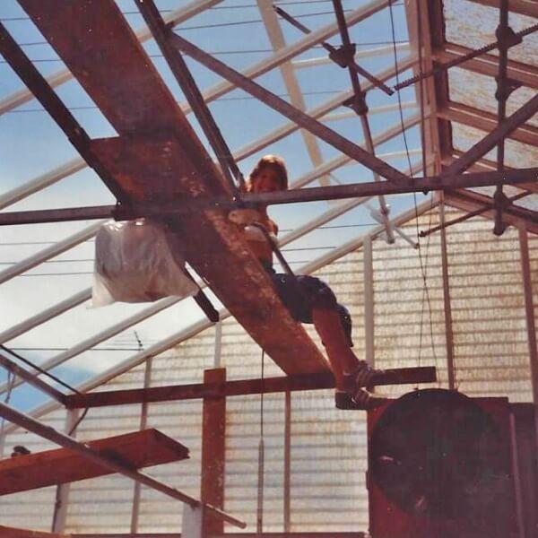 Ann Lind captured working - 1980.