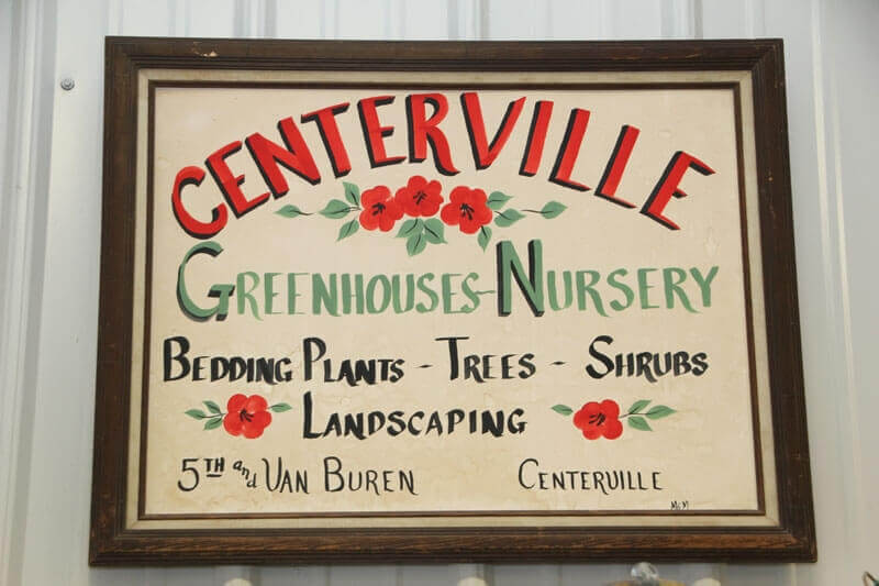 Mid-1980's greenhouse sign.