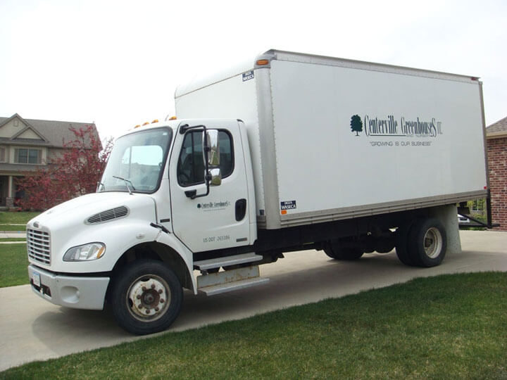 One of Centerville Greenhouses delivery trucks.