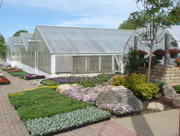 Southeastern view of Centerville Greenhouses.