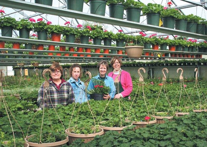 Greenhouse employees.
