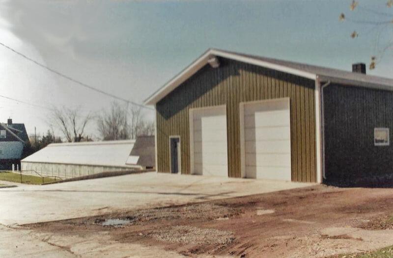 East-side garage addition.