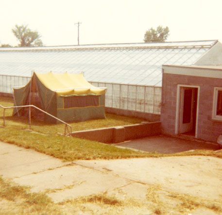 Our first home in Centerville. Camped until our house was ready - 1972.