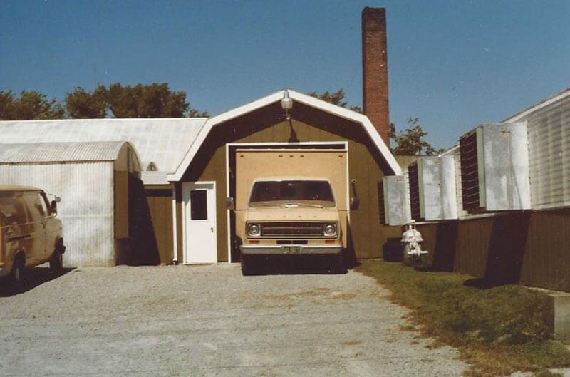 South garage view.