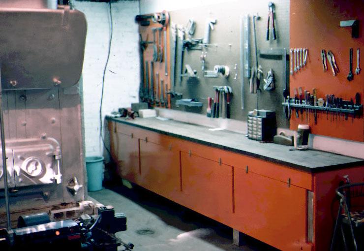 Rob's workbench.